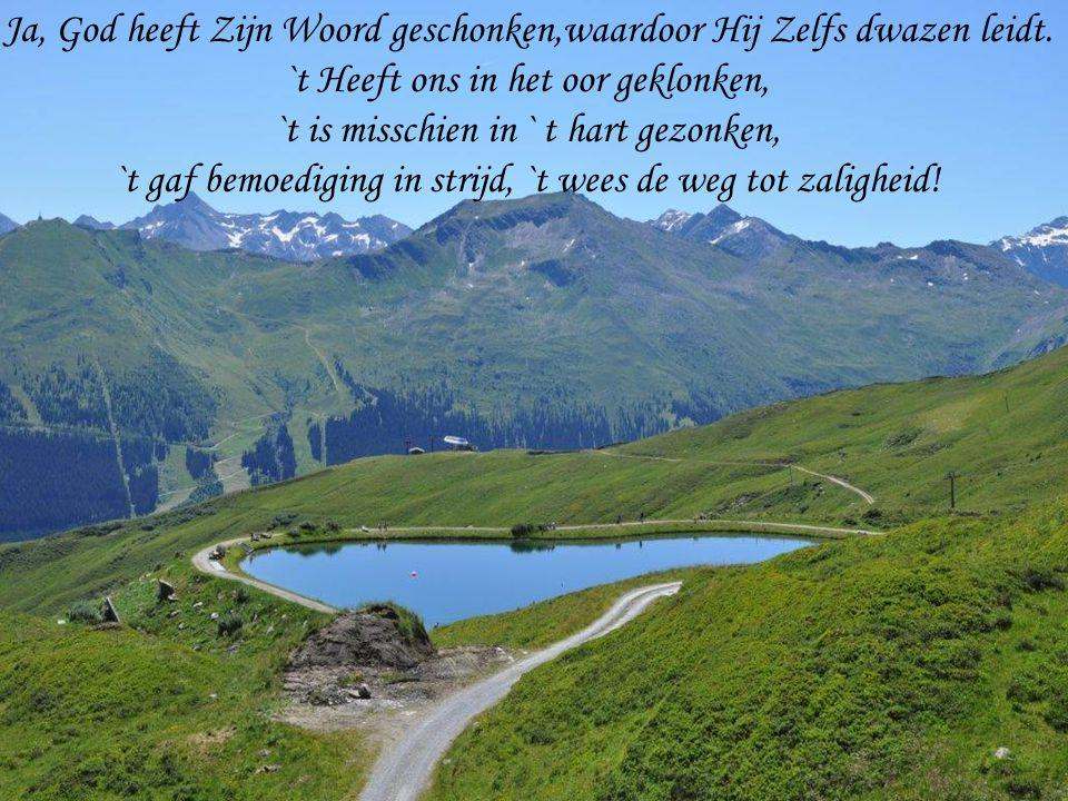 Ja, God heeft Zijn Woord geschonken,waardoor Hij Zelfs dwazen leidt.