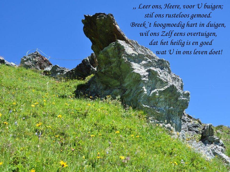 ,, Leer ons, Heere, voor U buigen; stil ons rusteloos gemoed.