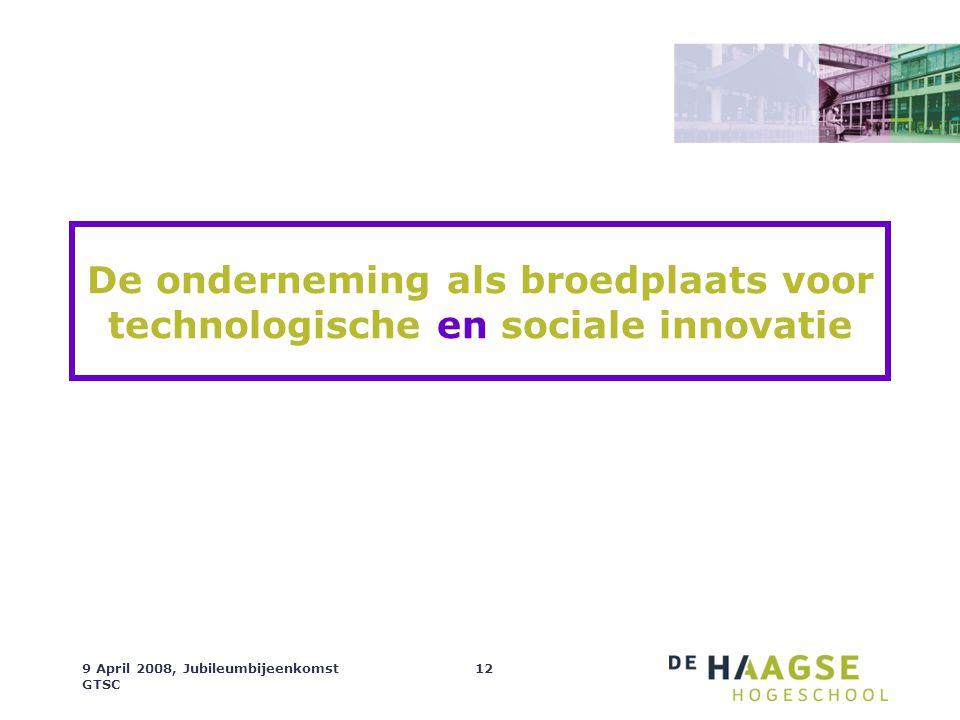 De onderneming als broedplaats voor technologische en sociale innovatie