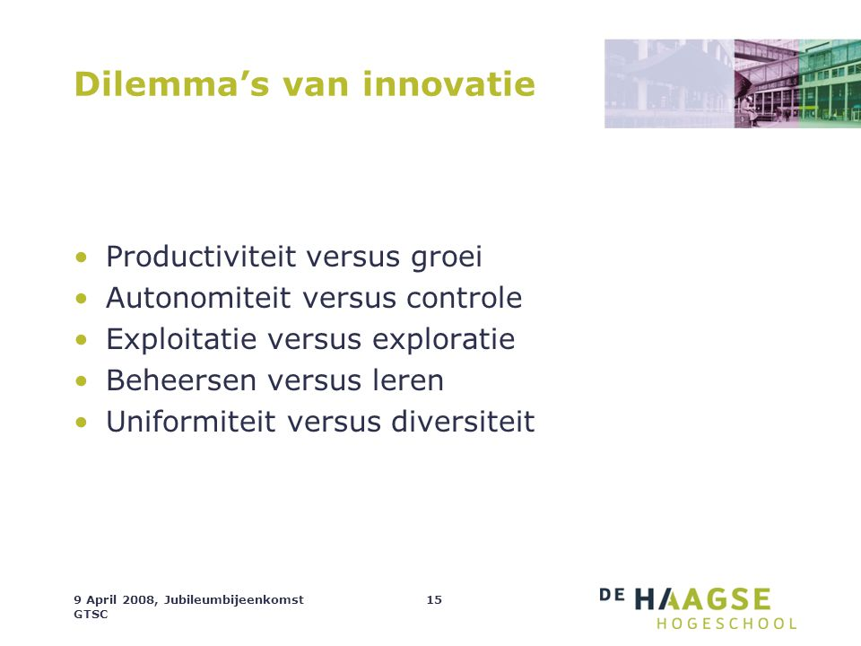 Dilemma's van innovatie
