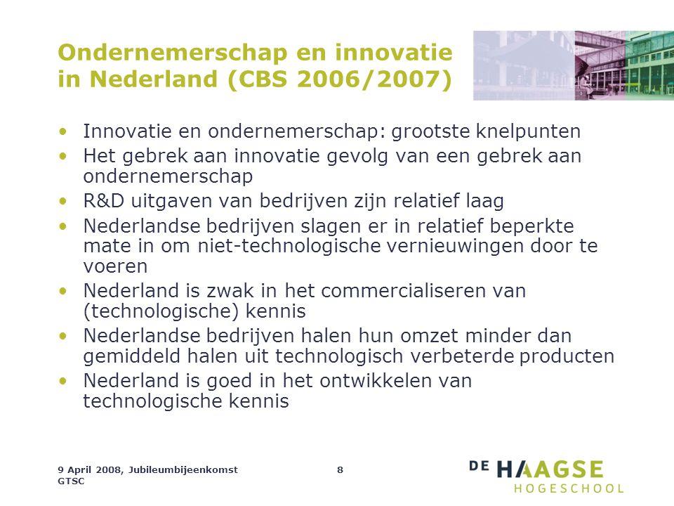 Ondernemerschap en innovatie in Nederland (CBS 2006/2007)