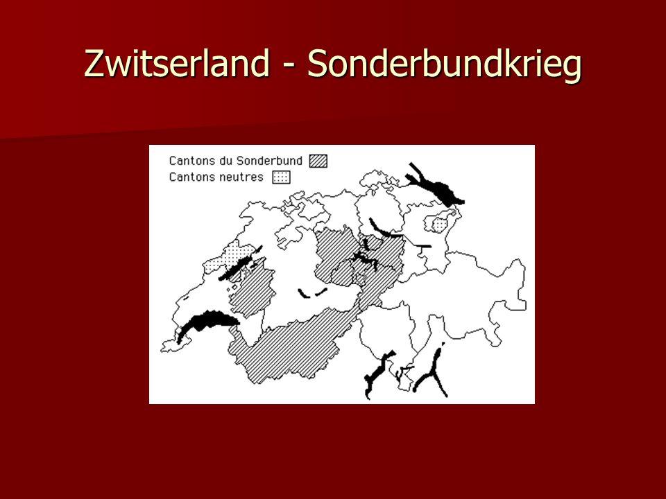 Zwitserland - Sonderbundkrieg