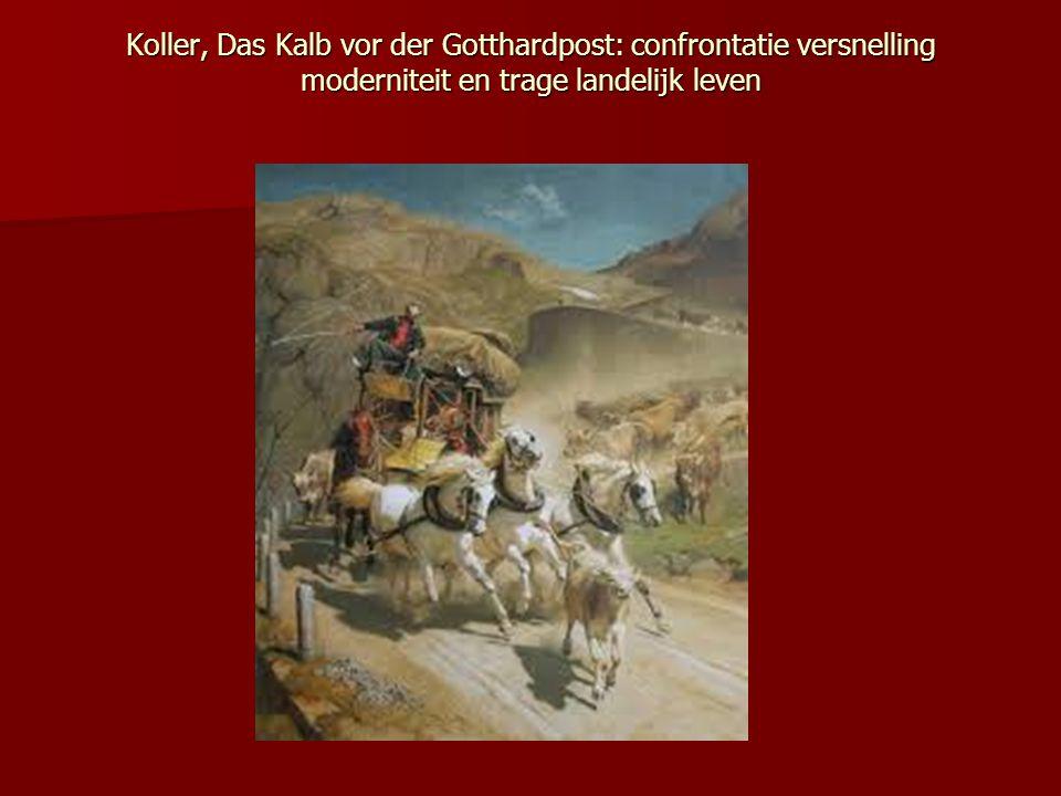 Koller, Das Kalb vor der Gotthardpost: confrontatie versnelling moderniteit en trage landelijk leven