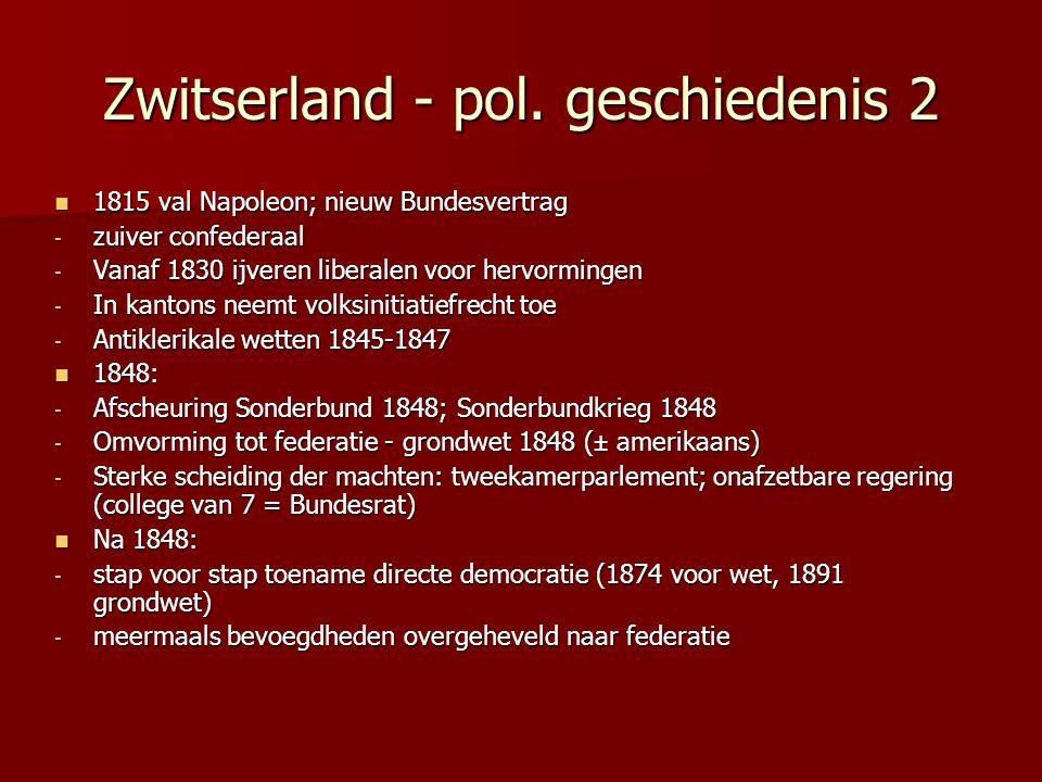 Zwitserland - pol. geschiedenis 2