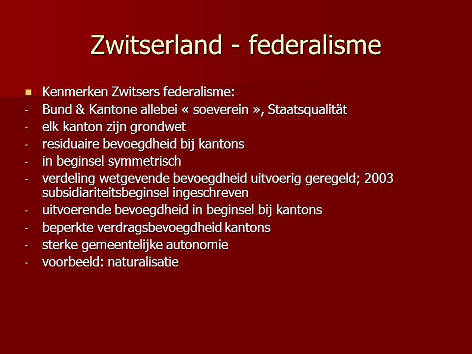 Zwitserland - federalisme
