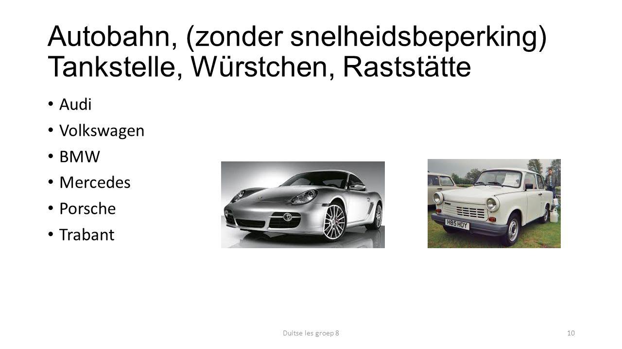 Autobahn, (zonder snelheidsbeperking) Tankstelle, Würstchen, Raststätte