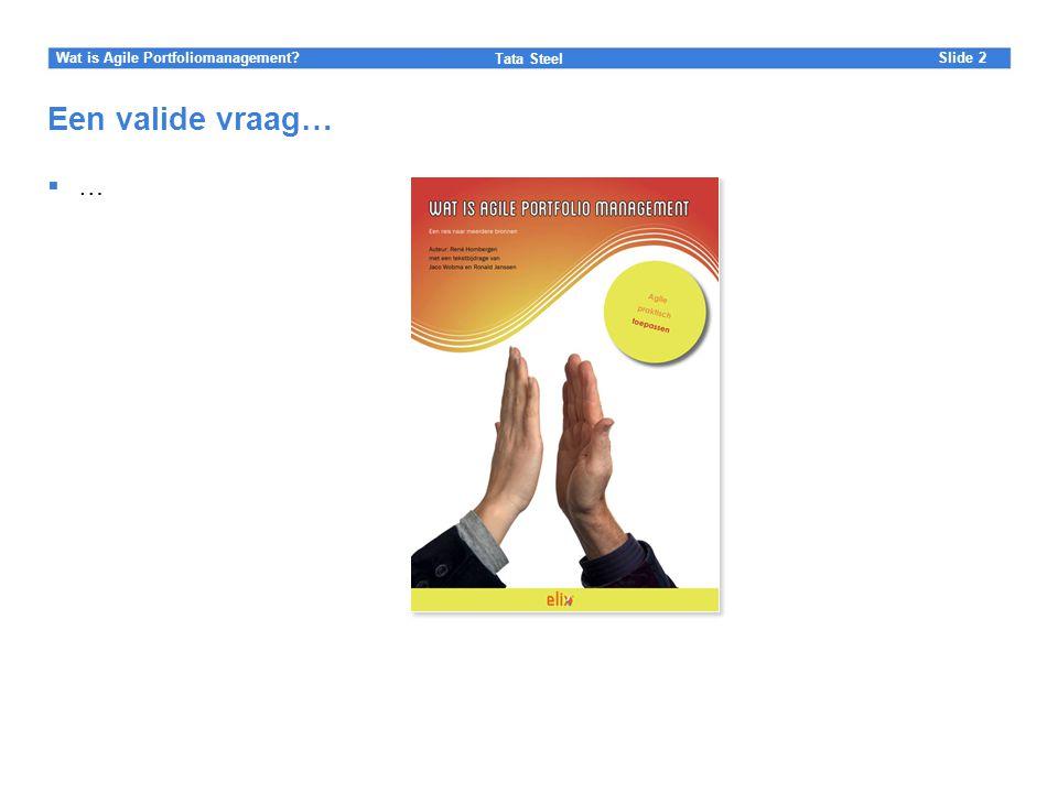 Wat is Agile Portfoliomanagement