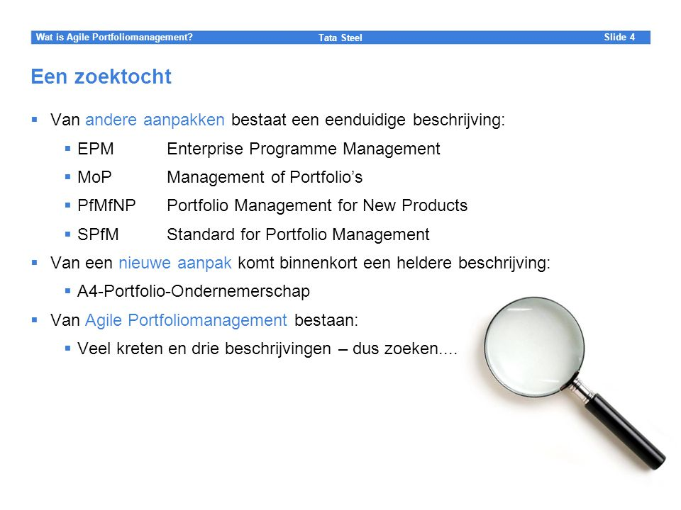 Wat is Agile Portfoliomanagement