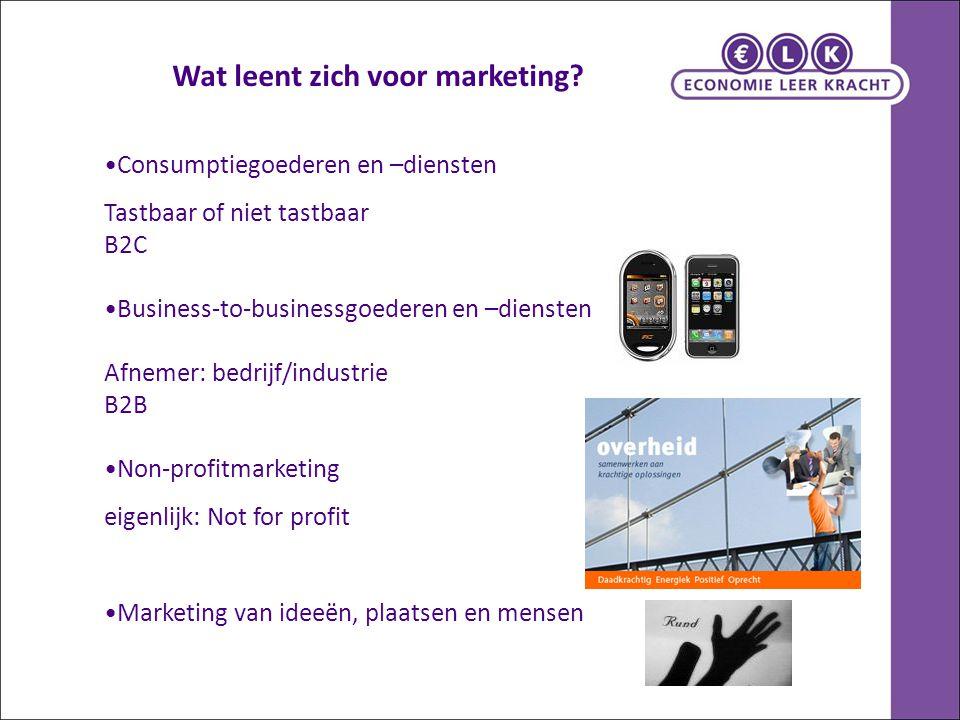 Wat leent zich voor marketing