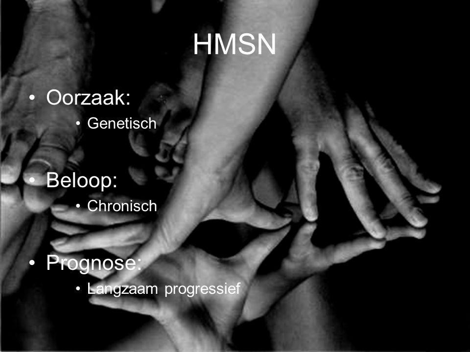 HMSN Oorzaak: Beloop: Prognose: Genetisch Chronisch