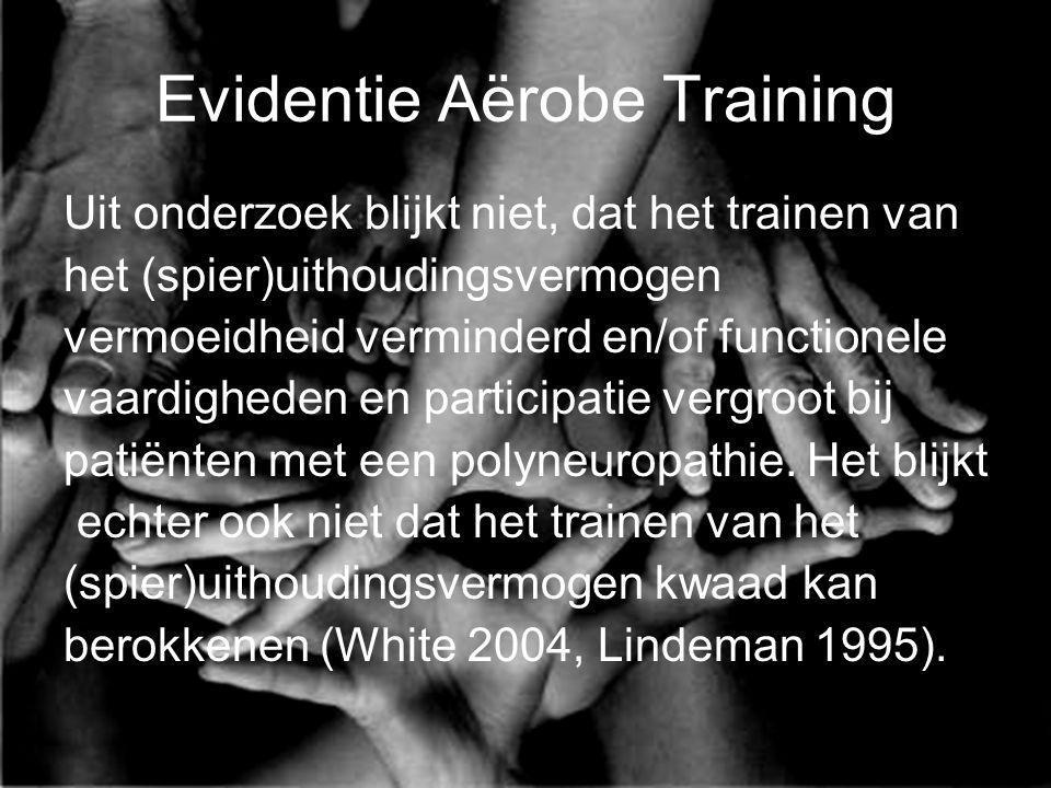 Evidentie Aërobe Training