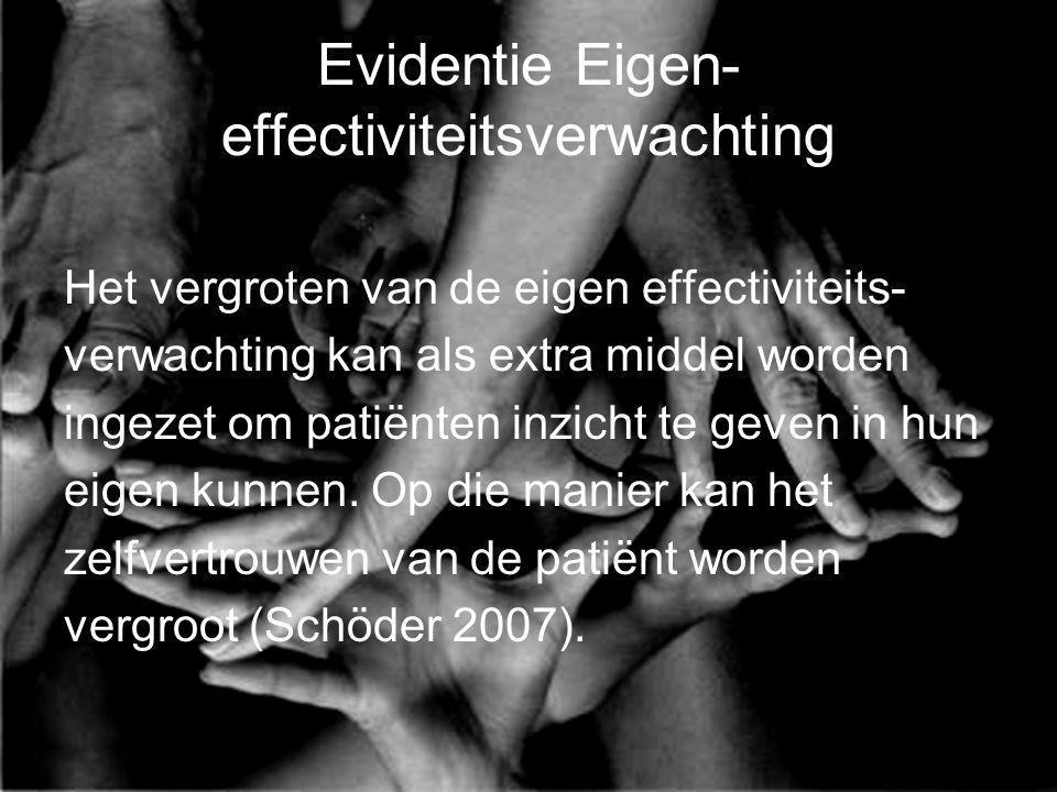 Evidentie Eigen-effectiviteitsverwachting