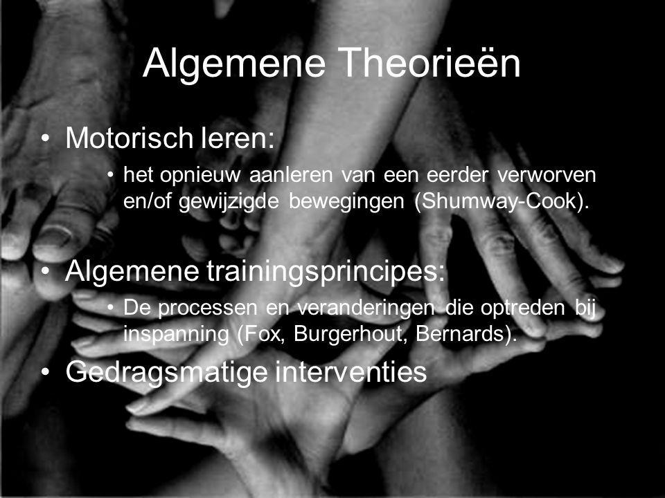 Algemene Theorieën Motorisch leren: Algemene trainingsprincipes: