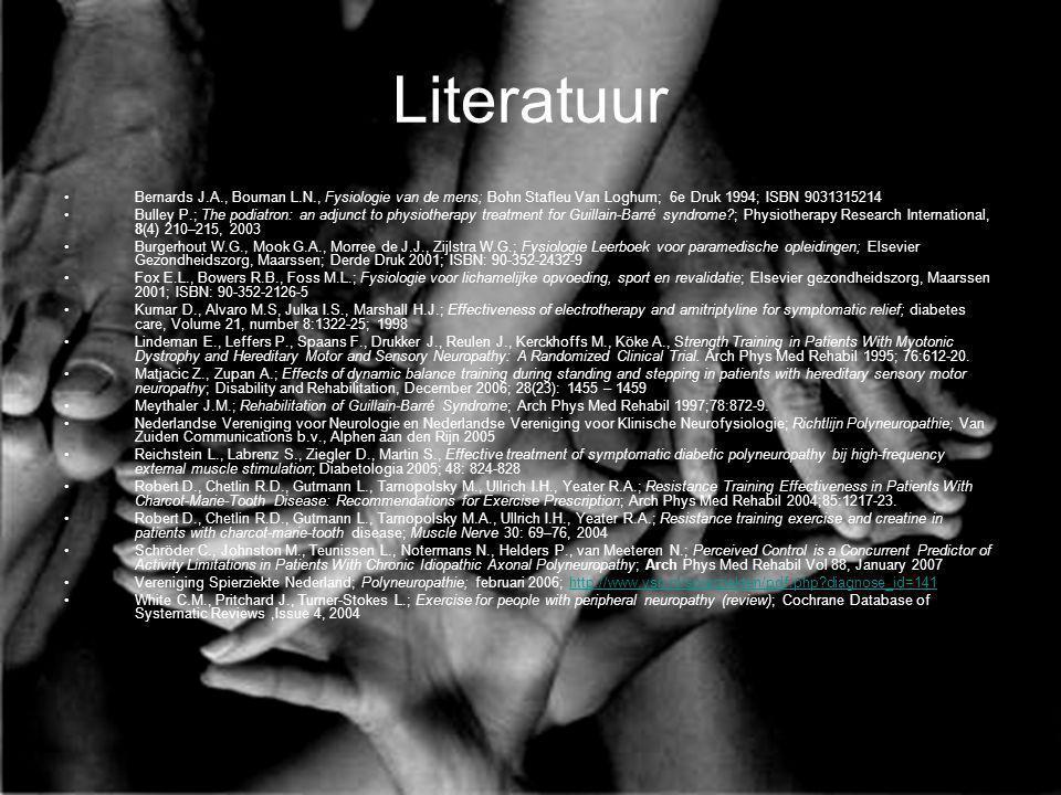 Literatuur Bernards J.A., Bouman L.N., Fysiologie van de mens; Bohn Stafleu Van Loghum; 6e Druk 1994; ISBN 9031315214.