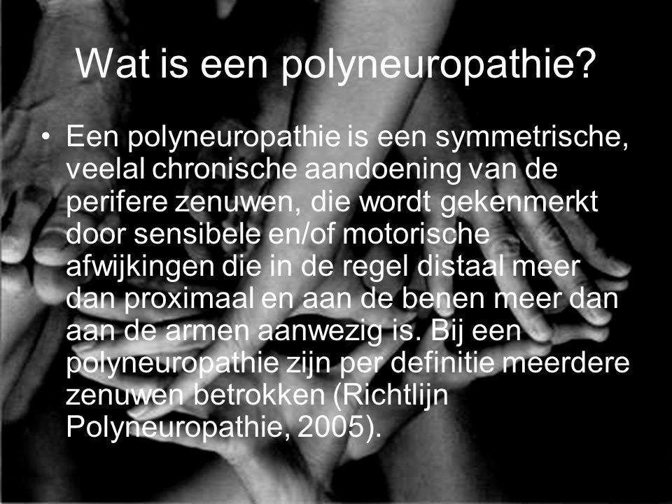 Wat is een polyneuropathie