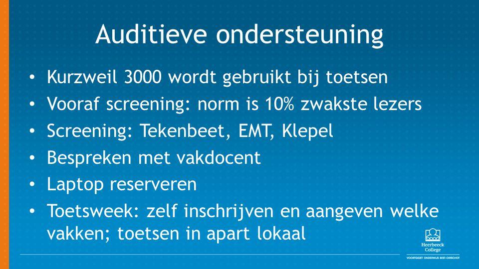 Auditieve ondersteuning
