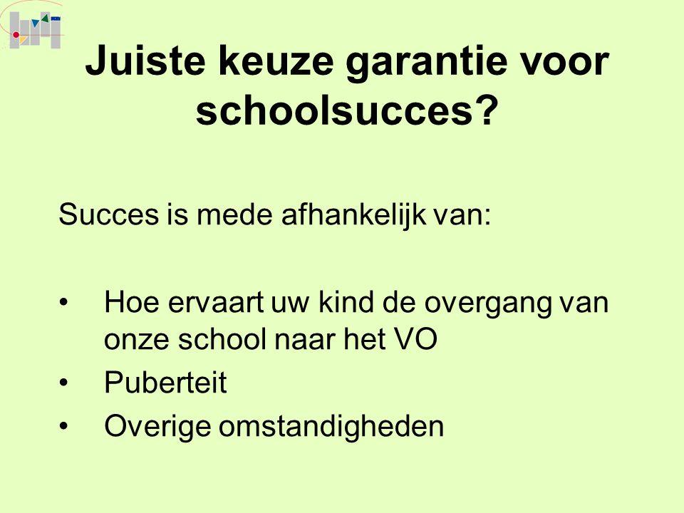 Juiste keuze garantie voor schoolsucces