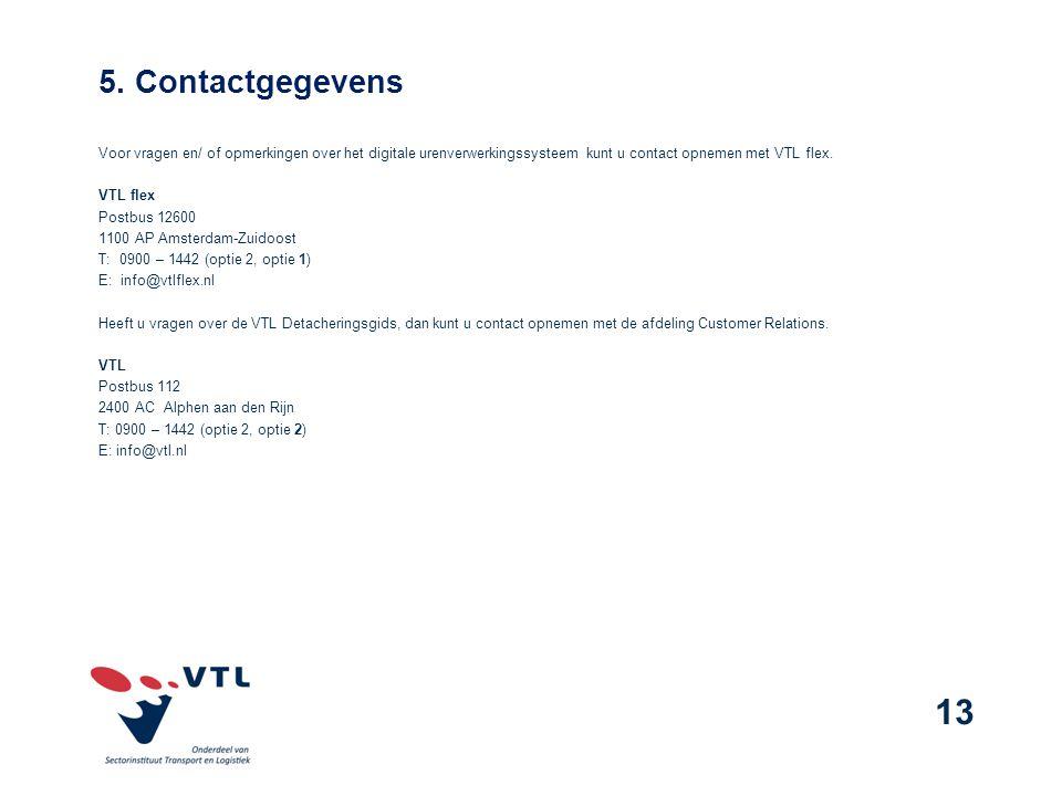5. Contactgegevens