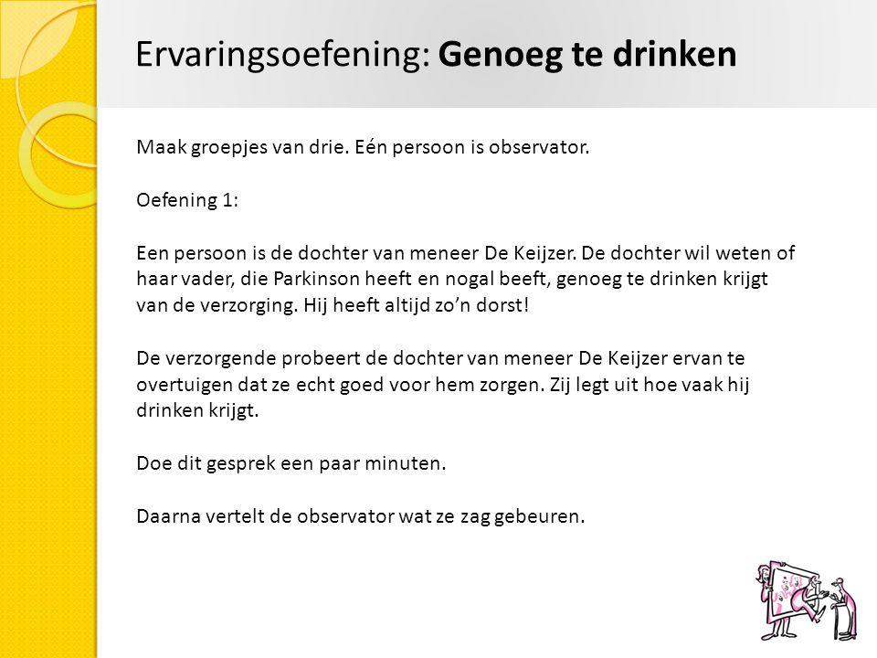 Ervaringsoefening: Genoeg te drinken