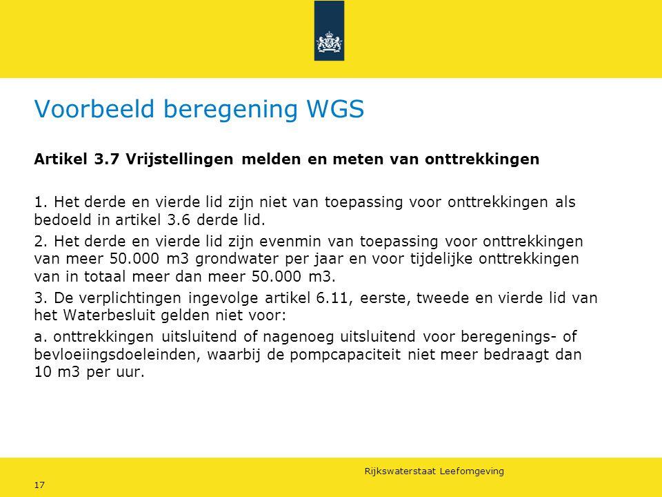 Voorbeeld beregening WGS