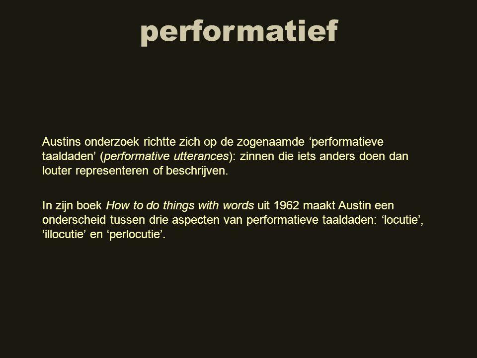 performatief