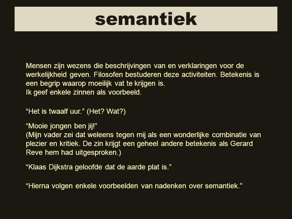 semantiek