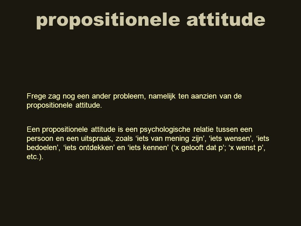 propositionele attitude
