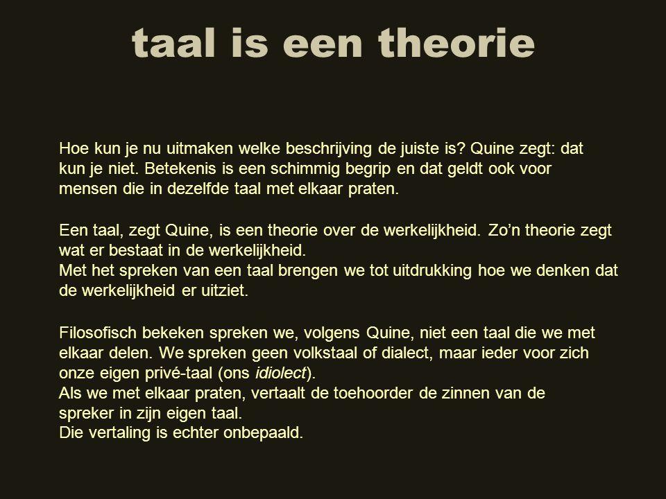 taal is een theorie