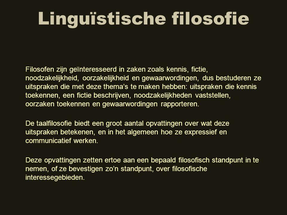Linguïstische filosofie