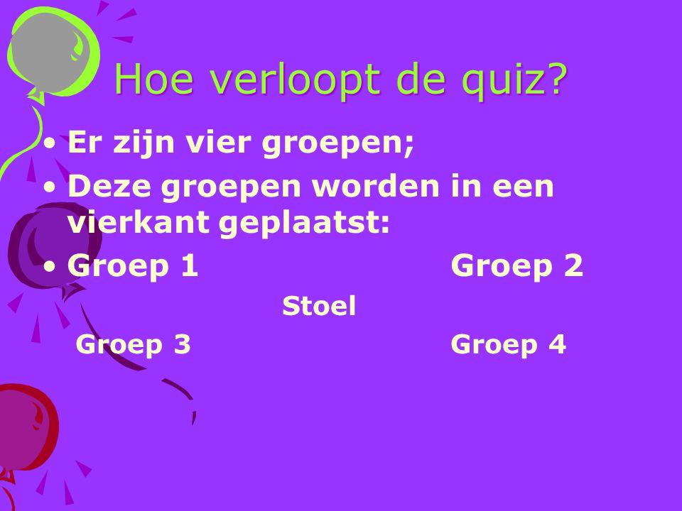 Hoe verloopt de quiz Er zijn vier groepen;