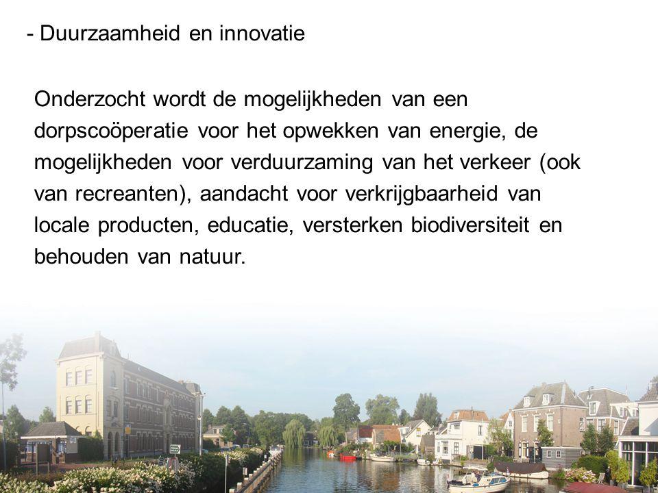 - Duurzaamheid en innovatie