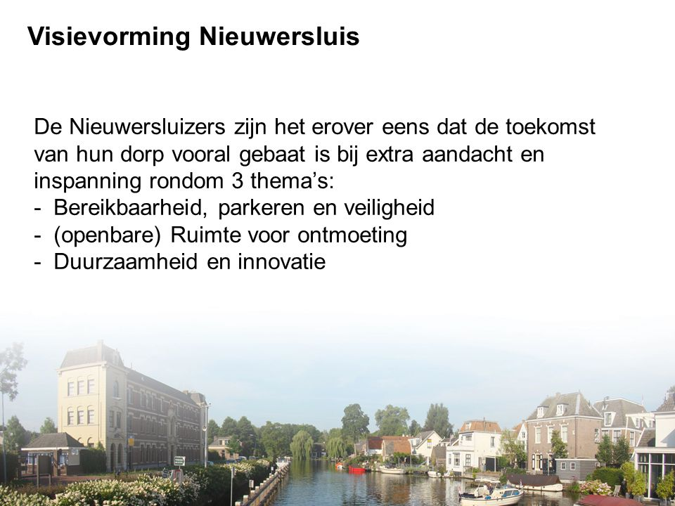 Visievorming Nieuwersluis