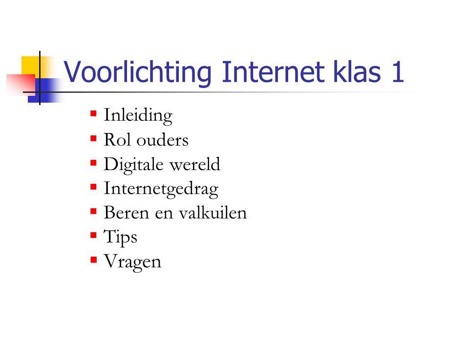 Voorlichting Internet klas 1