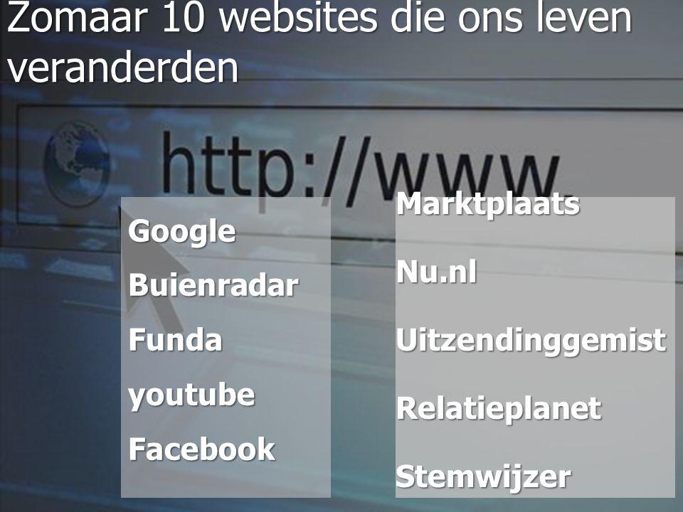 Zomaar 10 websites die ons leven veranderden