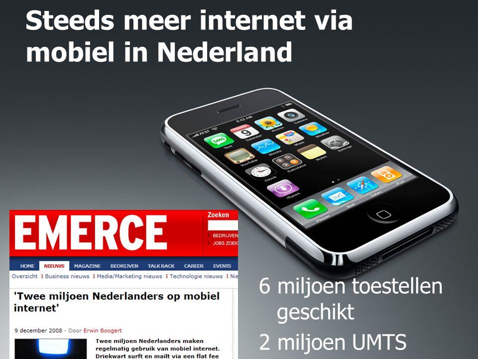 Steeds meer internet via mobiel in Nederland