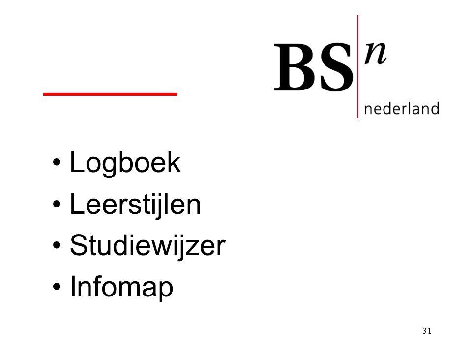 Logboek Leerstijlen Studiewijzer Infomap