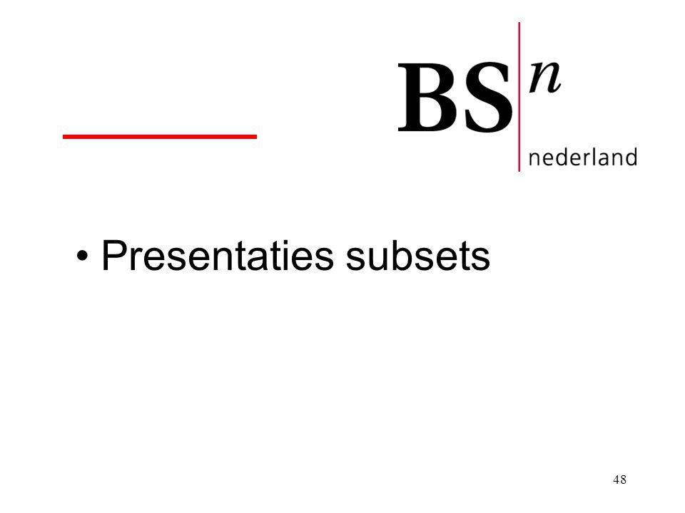 Presentaties subsets