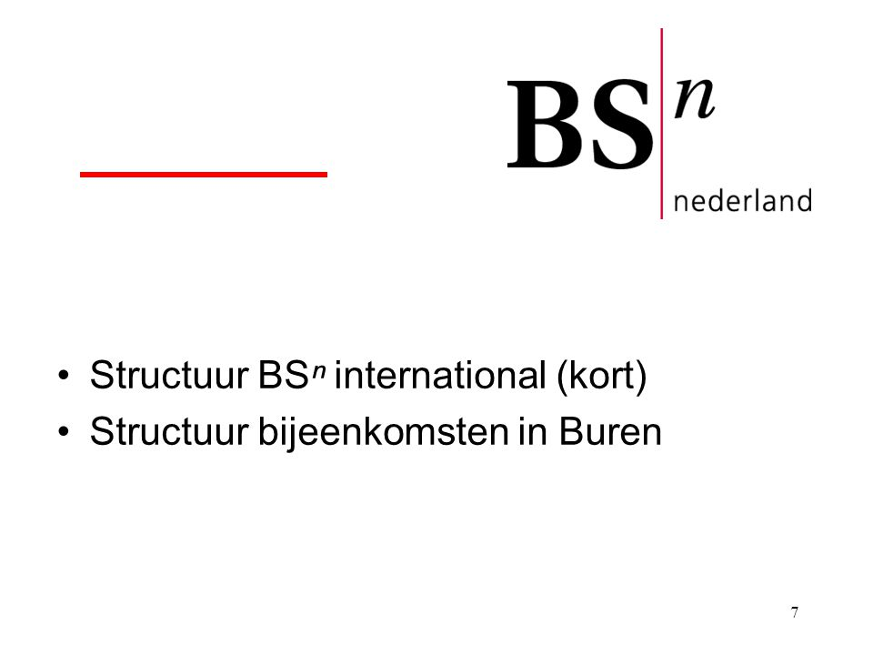 Structuur BSⁿ international (kort)