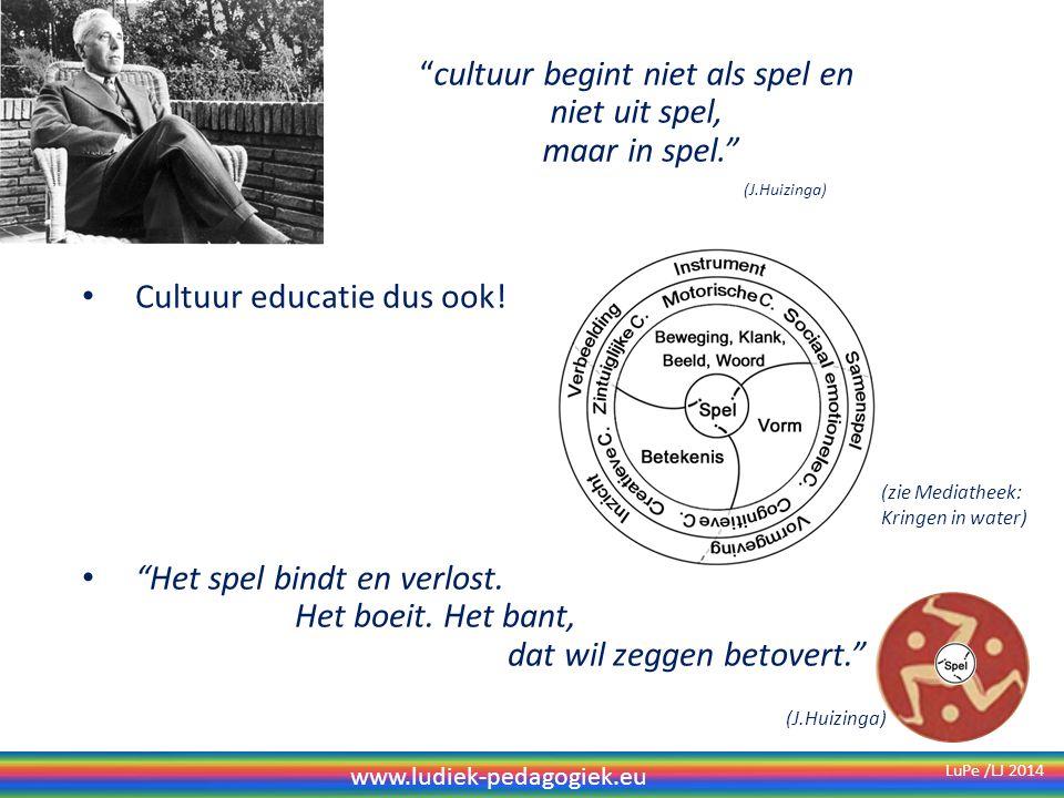 cultuur begint niet als spel en niet uit spel, maar in spel.