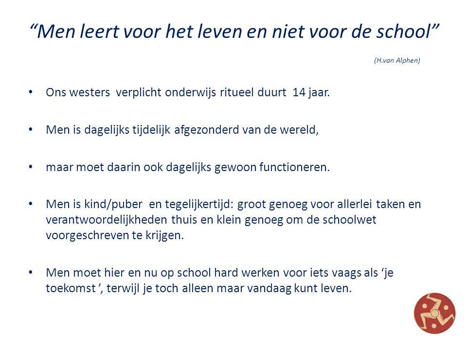 Men leert voor het leven en niet voor de school (H.van Alphen)
