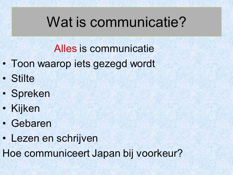 Wat is communicatie Alles is communicatie