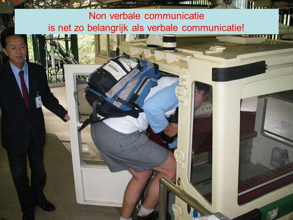 Non verbale communicatie is net zo belangrijk als verbale communicatie!