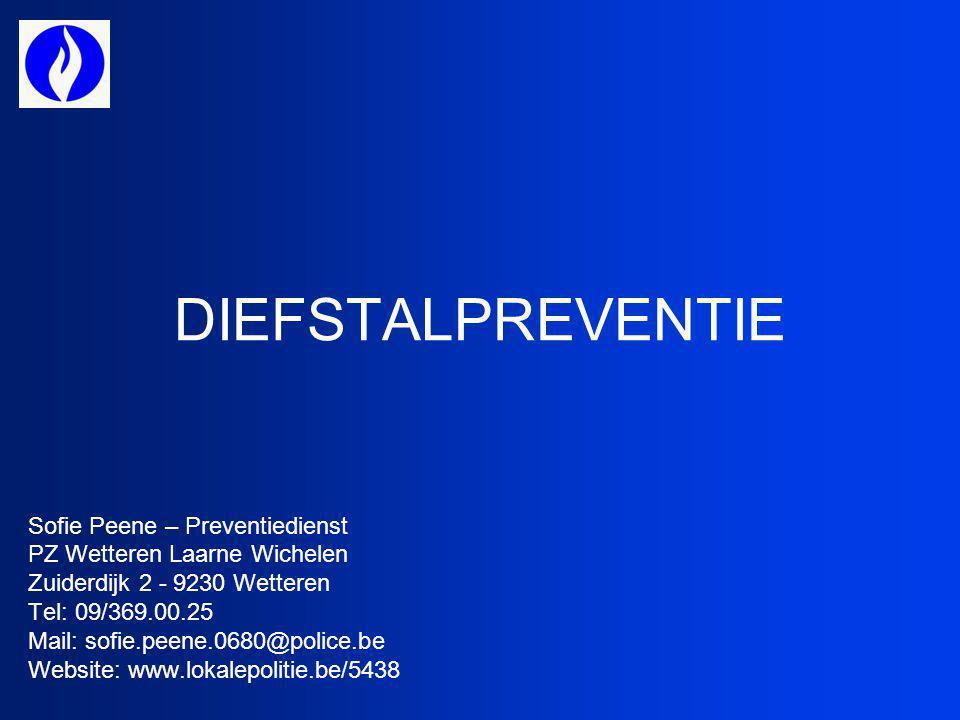 DIEFSTALPREVENTIE Sofie Peene – Preventiedienst