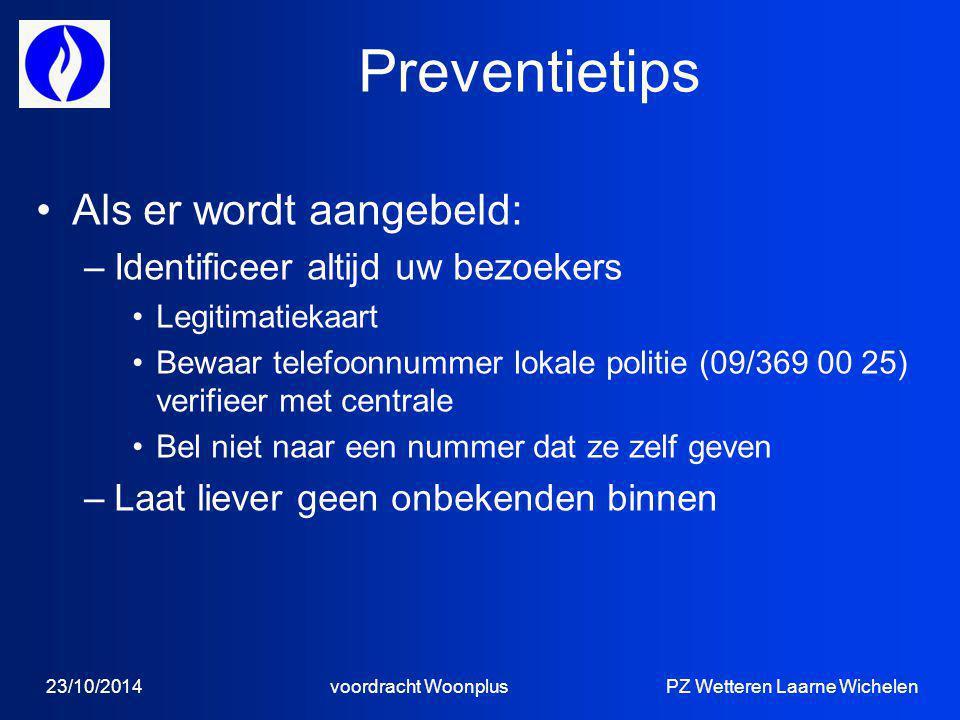 Preventietips Als er wordt aangebeld: Identificeer altijd uw bezoekers
