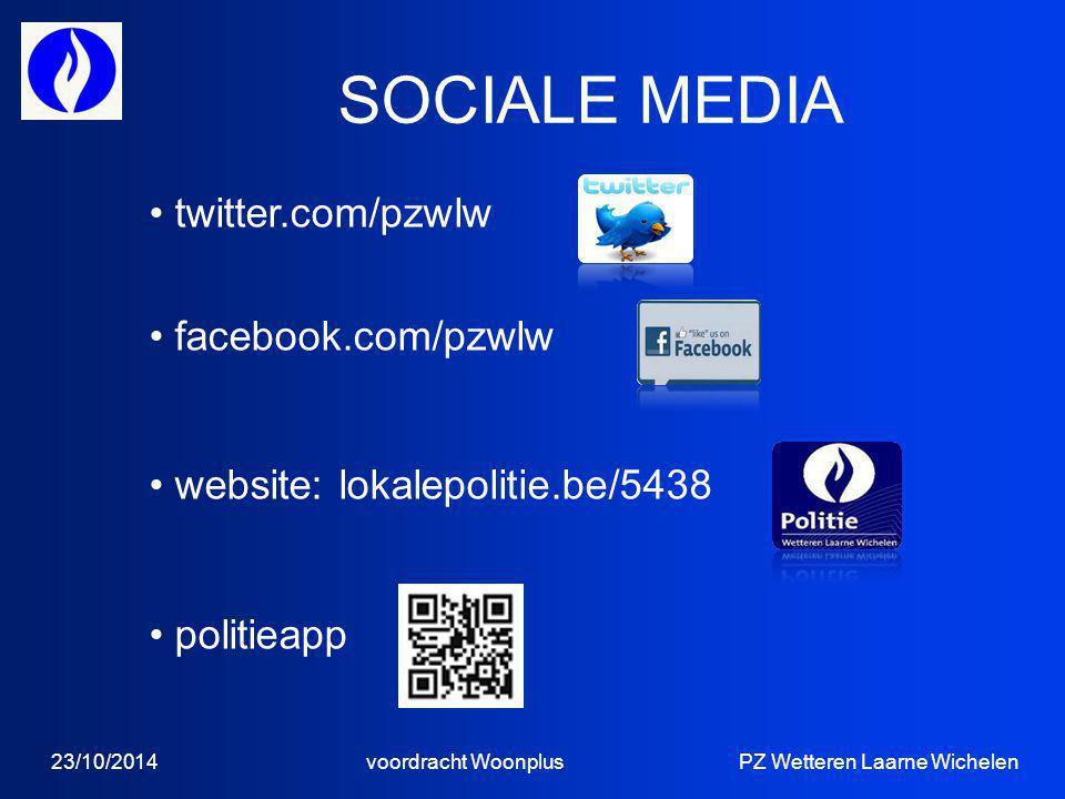 SOCIALE MEDIA twitter.com/pzwlw facebook.com/pzwlw