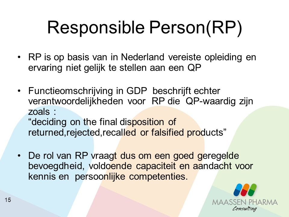 Responsible Person(RP)