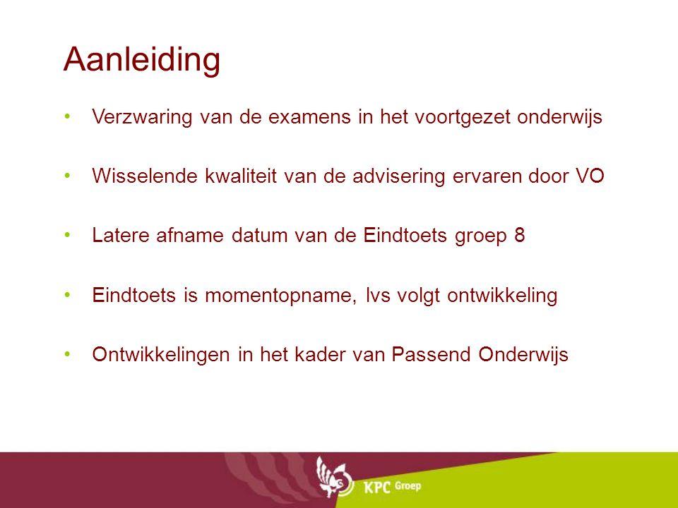 Aanleiding Verzwaring van de examens in het voortgezet onderwijs