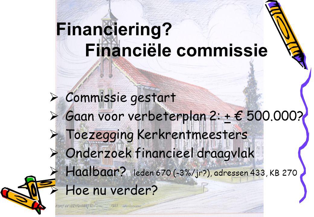 Financiering Financiële commissie