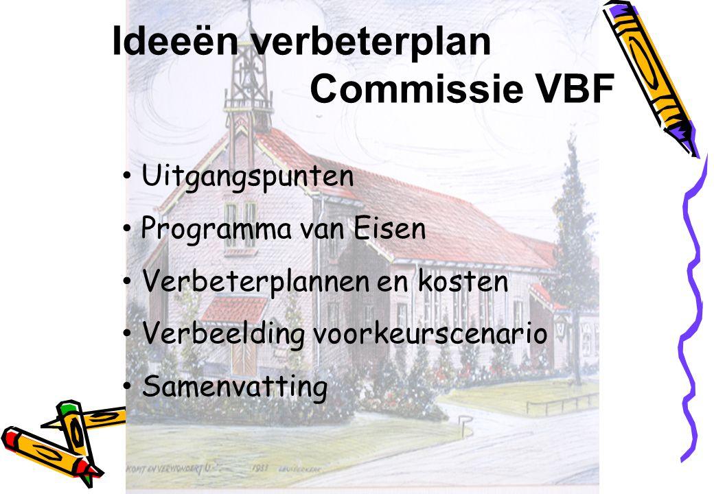 Ideeën verbeterplan Commissie VBF