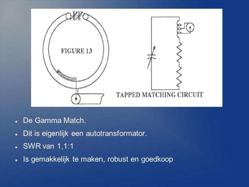 De Gamma Match. Dit is eigenlijk een autotransformator.